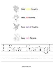 I See Spring! Worksheet