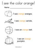 Orange Coloring Pages - Twisty Noodle