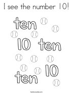 i see the number 10 coloring page