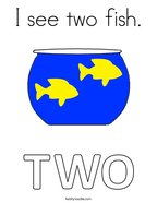 I see two fish Coloring Page