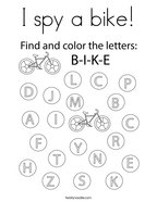 I spy a bike Coloring Page
