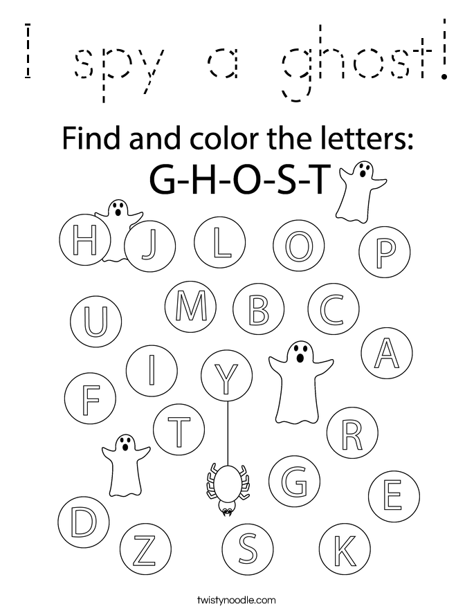 I spy a ghost! Coloring Page