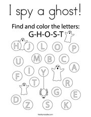 I spy a ghost Coloring Page
