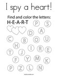 I spy a heart! Coloring Page