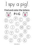 I spy a pig! Coloring Page