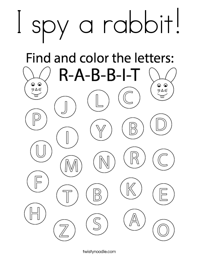 I spy a rabbit! Coloring Page