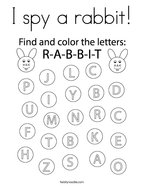 I spy a rabbit Coloring Page
