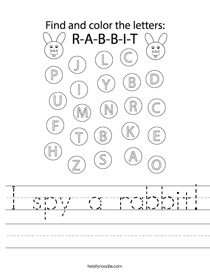 I spy a rabbit! Worksheet