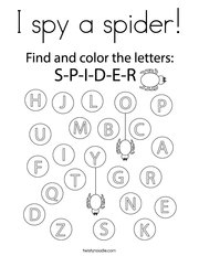 I spy a spider Coloring Page