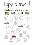I spy a truck! Coloring Page