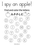 I spy an apple! Coloring Page