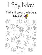 I Spy May Coloring Page