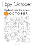 I Spy October Coloring Page