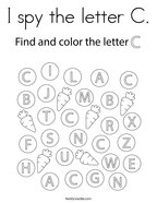 I spy the letter C Coloring Page