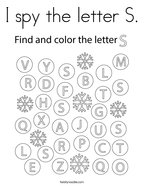 I spy the letter S Coloring Page