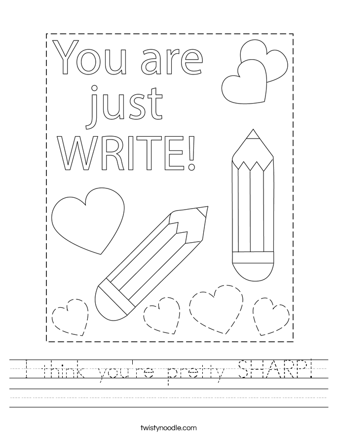 I think you're pretty SHARP! Worksheet
