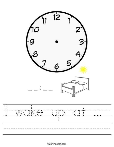 I wake up at...  Worksheet
