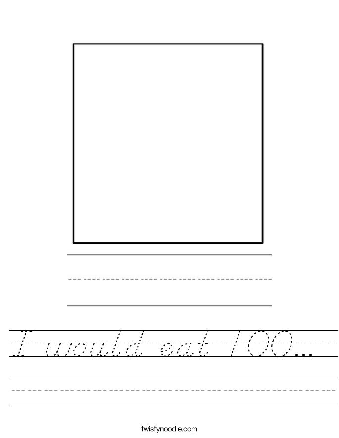 I would eat 100...  Worksheet