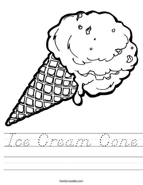 Ice Cream Cone Worksheet