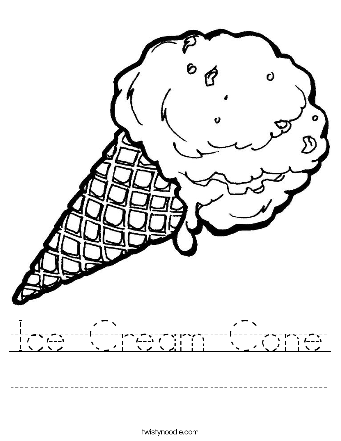 Ice Cream Cone Worksheet