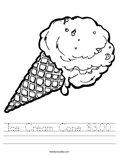Ice Cream Cone $3.00 Worksheet