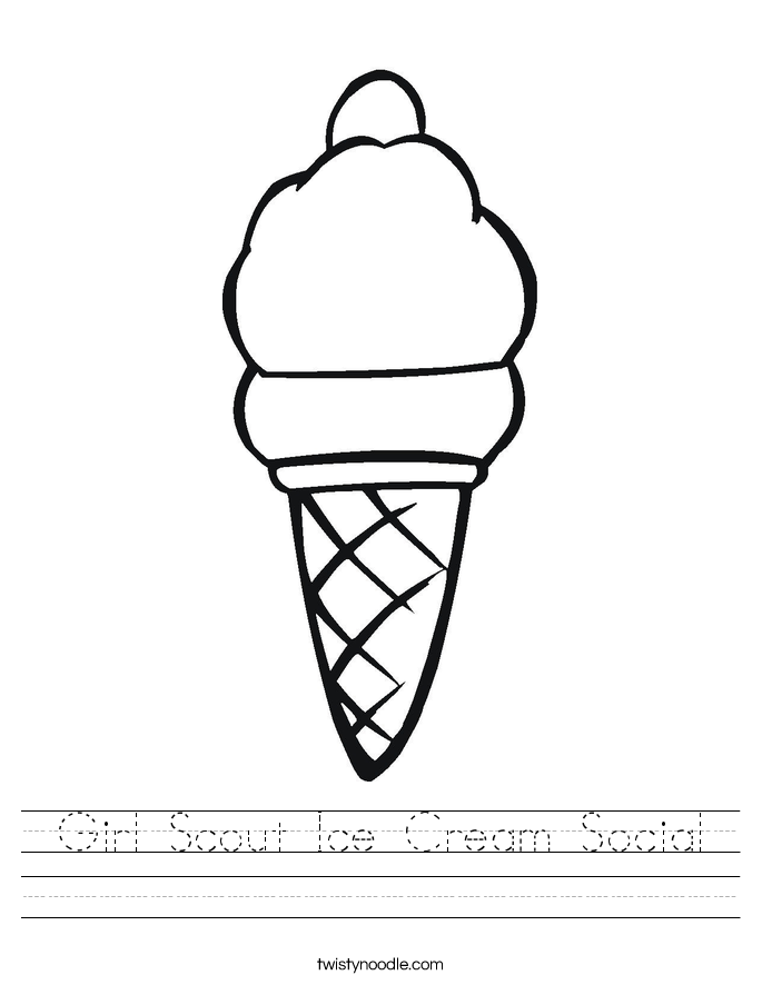 Girl Scout Ice Cream Social Worksheet