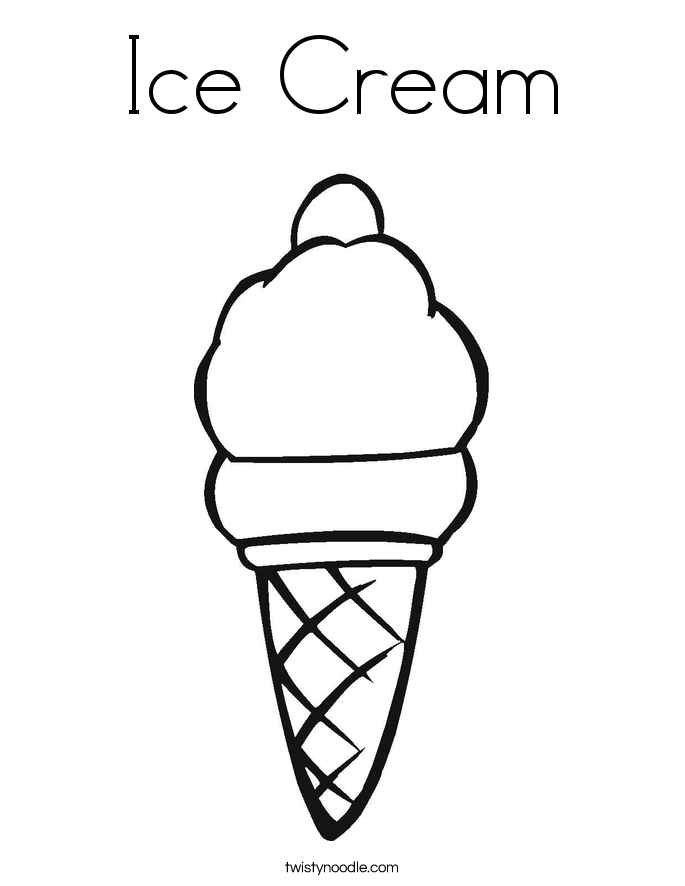 ice cream coloring page twisty noodle House Clip Art Black and White Black and White Color Pages Sunday School