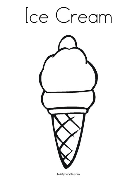 Ice Cream Coloring Page - Twisty Noodle