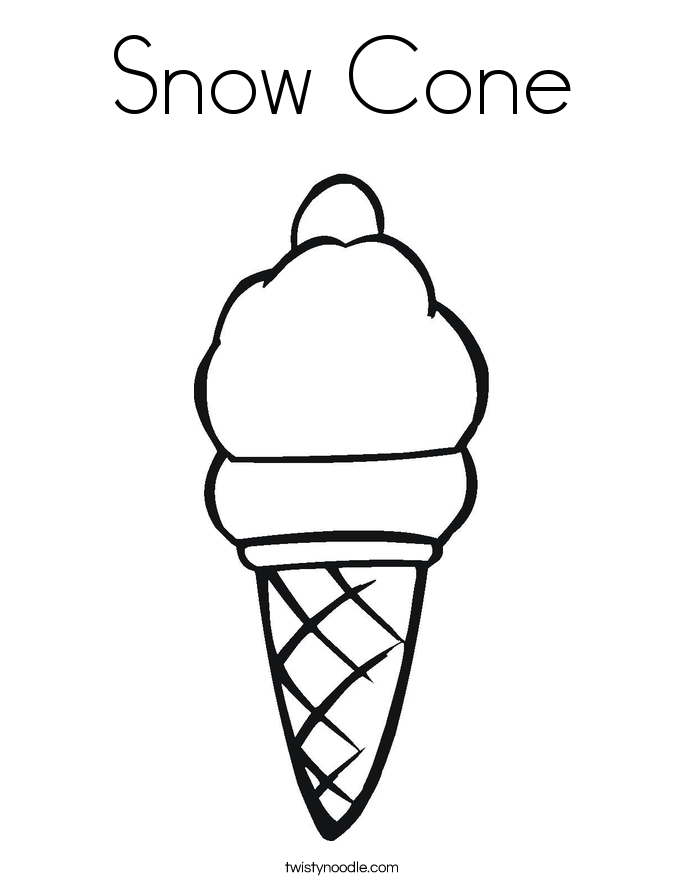 free snow cone coloring pages - photo#5