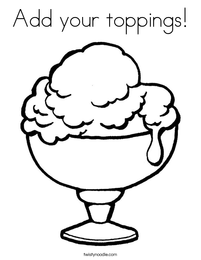 Add your toppings! Coloring Page