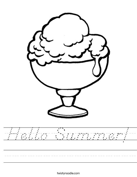 Ice Cream Cup Worksheet