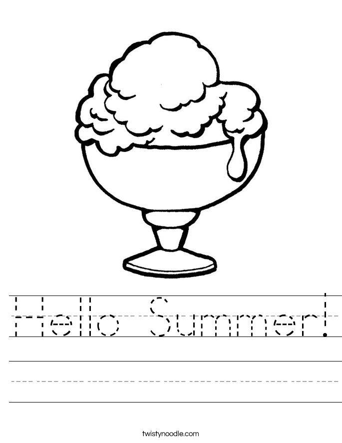 Hello Summer! Worksheet