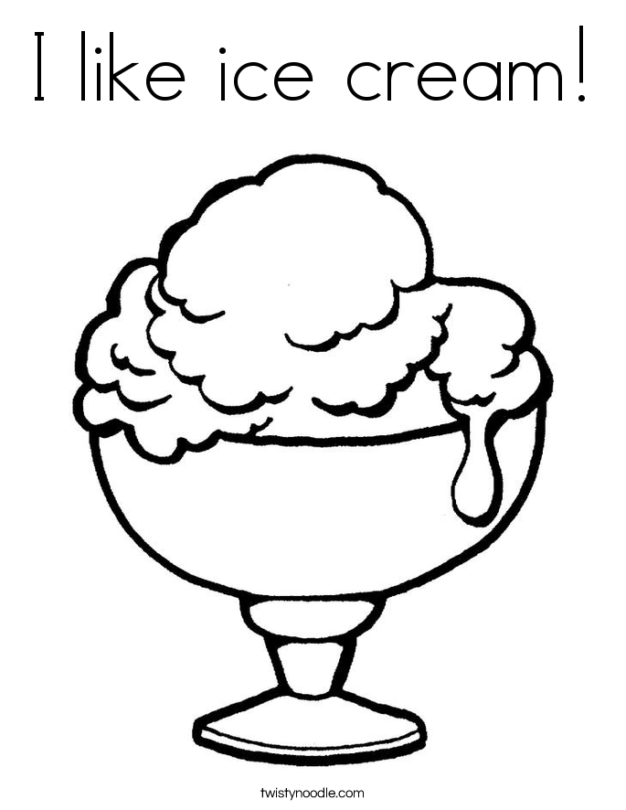 I like ice cream! Coloring Page