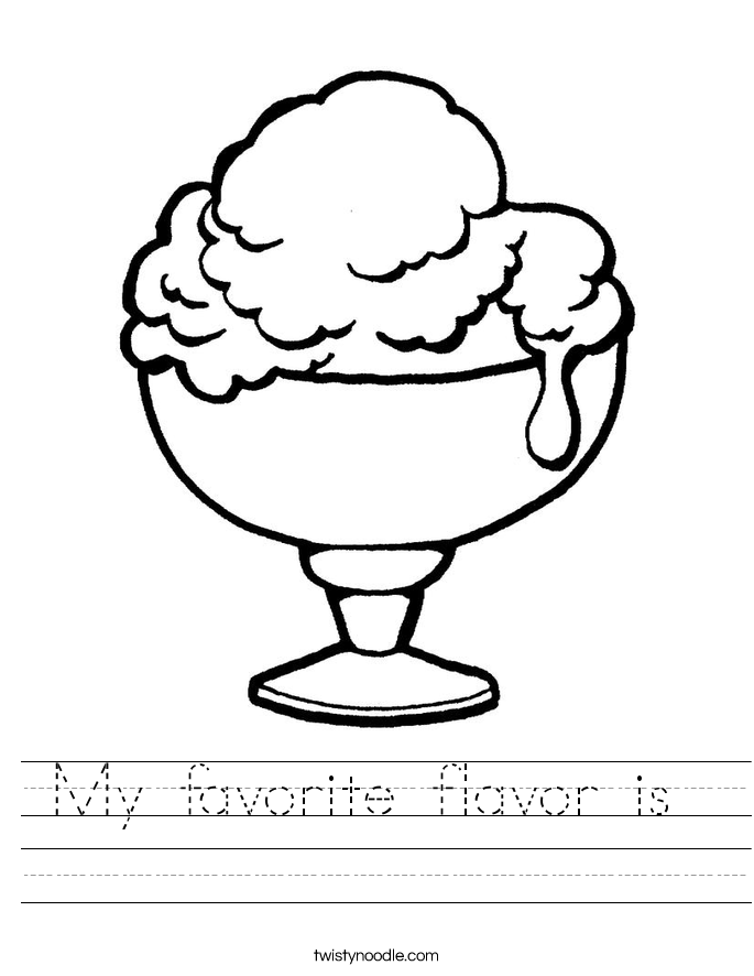 My favorite flavor is  Worksheet
