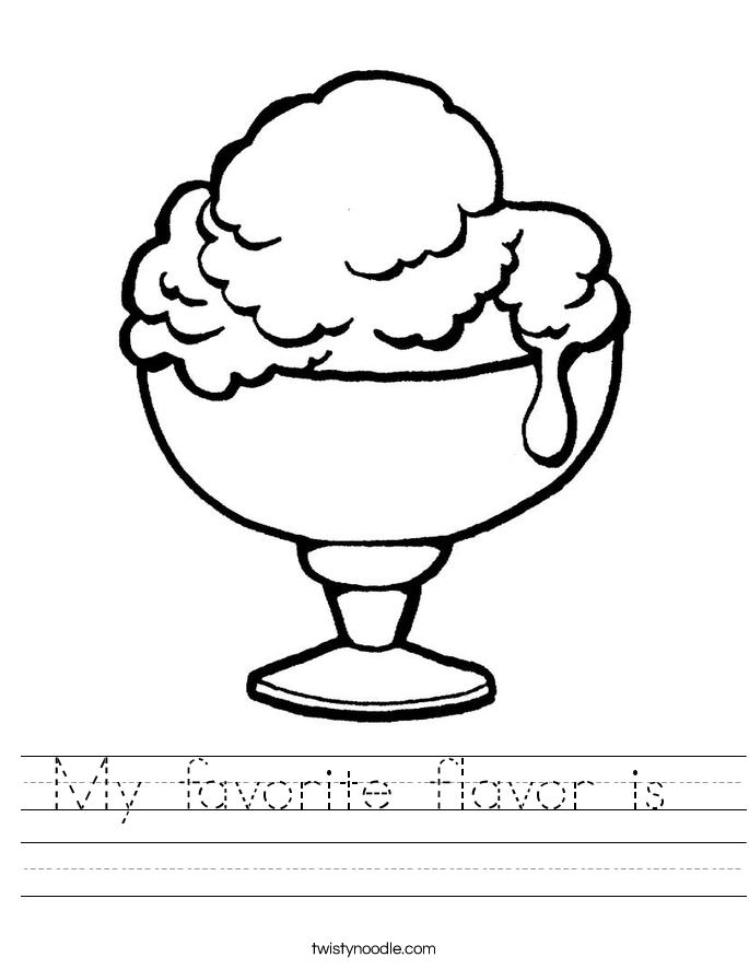 My favorite flavor is  Worksheet