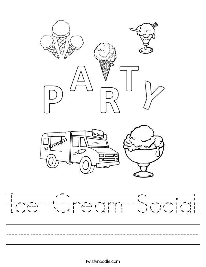 Ice Cream Social Worksheet