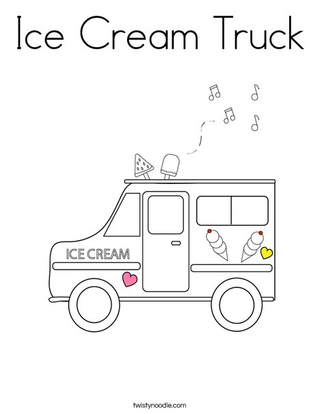 Superb Ice Cream Truck Coloring Page