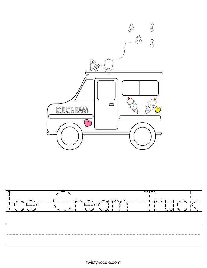 Ice Cream Truck Worksheet