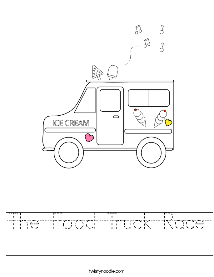The Food Truck Race Worksheet