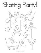 Skating Party Coloring Page