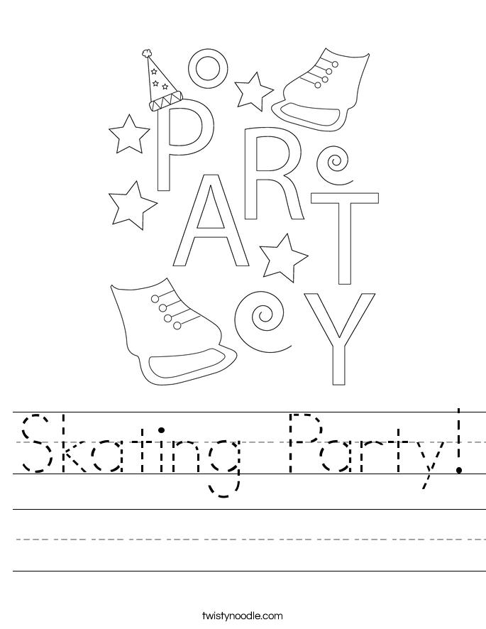 Skating Party! Worksheet