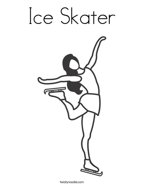 Ice Skater Coloring Page