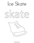 Ice Skate Coloring Page