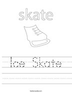 Ice Skate Handwriting Sheet