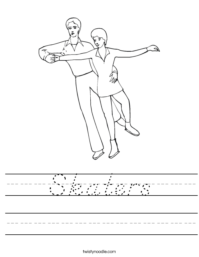 Skaters Worksheet