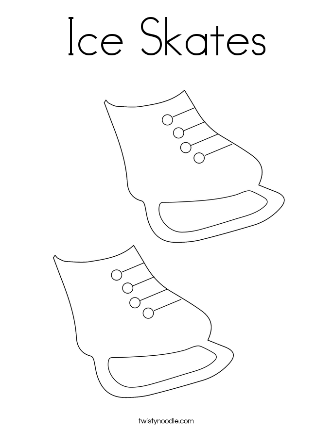 Ice skate coloring page printable coloring page for Ice skating coloring pages printable