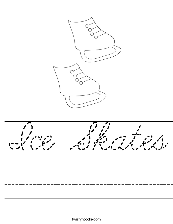 Ice Skates Worksheet
