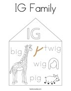 IG Family Coloring Page