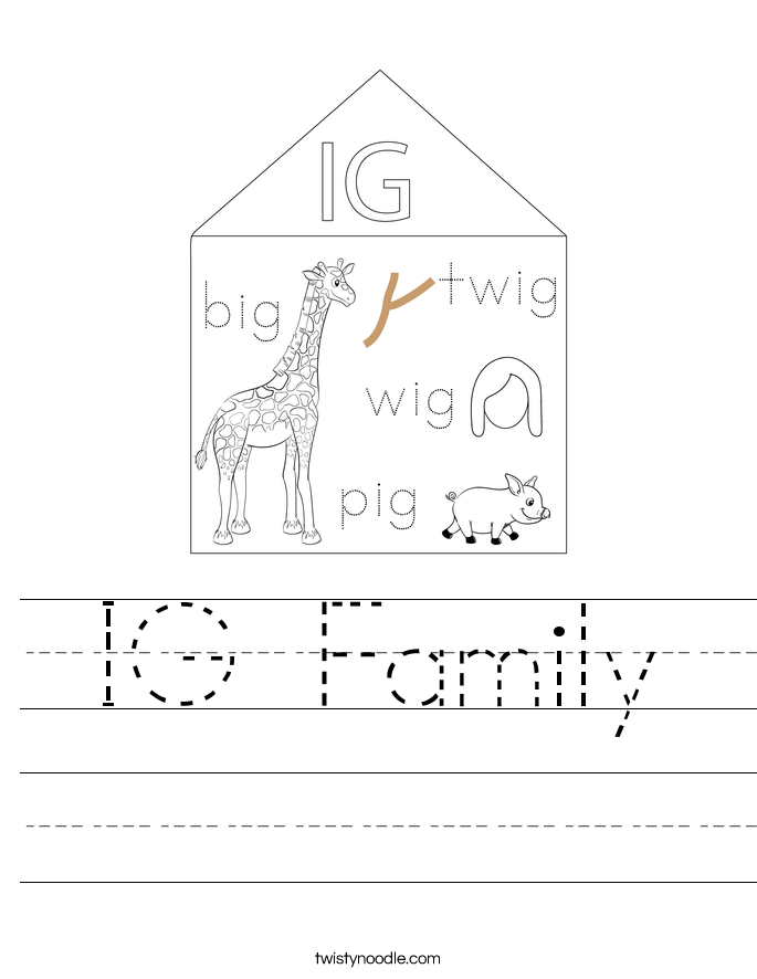 IG Family Worksheet