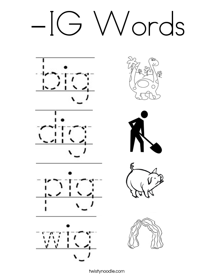 -IG Words Coloring Page